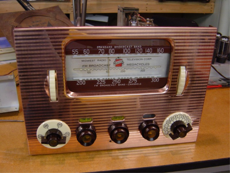 Bob's Antique TV's-1950 Midwest Radio 16 inch chassis ...